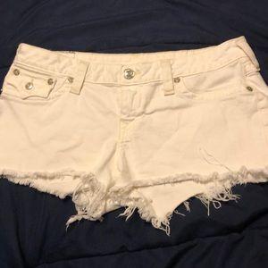 Women True Religion white shorts size 33